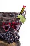 κρασί καλαθιών Στοκ εικόνα με δικαίωμα ελεύθερης χρήσης