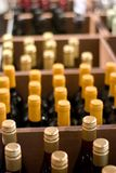 κρασί καταστημάτων μπουκαλιών Στοκ εικόνα με δικαίωμα ελεύθερης χρήσης