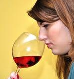 κρασί κοριτσιών Στοκ εικόνα με δικαίωμα ελεύθερης χρήσης