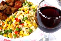 κρασί λαχανικών κρέατος Στοκ φωτογραφία με δικαίωμα ελεύθερης χρήσης