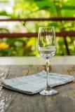 κρασί μεσημεριανού γεύματος γυαλιού παραλιών Στοκ εικόνες με δικαίωμα ελεύθερης χρήσης
