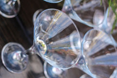 κρασί μεσημεριανού γεύματος γυαλιού παραλιών Στοκ Εικόνα