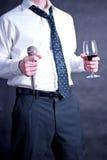 κρασί μικροφώνων ατόμων Στοκ Φωτογραφίες