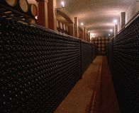 κρασί μπουκαλιών Στοκ Φωτογραφίες