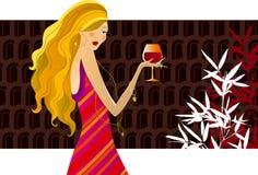 κρασί μόδας Στοκ Εικόνες