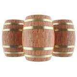 Κρασί, ουίσκυ, ρούμι, βαρέλια μπύρας απεικόνιση αποθεμάτων