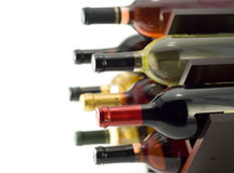 κρασί ραφιών Στοκ φωτογραφία με δικαίωμα ελεύθερης χρήσης