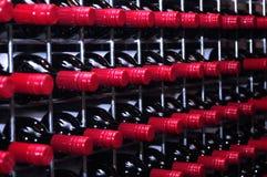κρασί ραφιών Στοκ Εικόνες