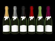 κρασί σαμπάνιας μπουκαλ&iota Στοκ Εικόνα