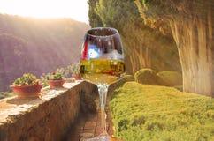 Κρασί σε μια όμορφη μεσογειακή περιοχή Στοκ Φωτογραφίες