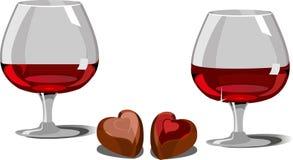 κρασί σοκολάτας ελεύθερη απεικόνιση δικαιώματος