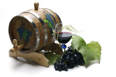 κρασί σταφυλιών βαρελιών στοκ εικόνα
