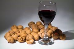Κρασί στο γυαλί στοκ εικόνες