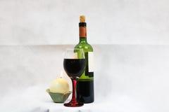 Κρασί στο φως ιστιοφόρου Στοκ Εικόνα