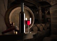 κρασί σύνθεσης Στοκ φωτογραφία με δικαίωμα ελεύθερης χρήσης