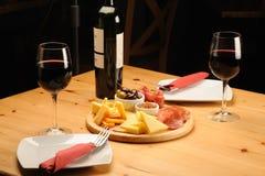 κρασί τυριών Στοκ Φωτογραφίες