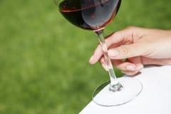 κρασί χεριών στοκ εικόνες με δικαίωμα ελεύθερης χρήσης