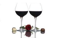 κρασί 3 βαλεντίνων Στοκ εικόνες με δικαίωμα ελεύθερης χρήσης