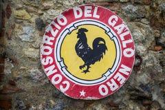 Κρασί Chianti, Ιταλία Στοκ εικόνες με δικαίωμα ελεύθερης χρήσης