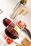 κρασιά γυαλιών Στοκ Εικόνες