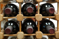 κρασιά μπουκαλιών Στοκ Φωτογραφία