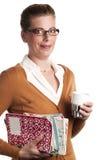 κρατά coffe το δάσκαλο Στοκ εικόνες με δικαίωμα ελεύθερης χρήσης