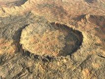 Κρατήρας αντίκτυπου απεικόνιση αποθεμάτων