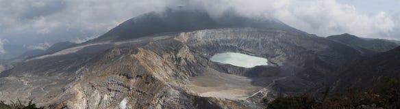 Κρατήρας ηφαιστείων Poas Στοκ Φωτογραφία