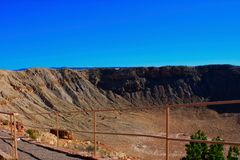 Κρατήρας μετεωριτών κοντά σε Winslow Αριζόνα Στοκ Εικόνες