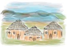 Κρατήρας Ngorongoro διανυσματική απεικόνιση
