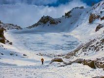 Κρατήρας Sabalan Στοκ Εικόνες