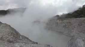 Κρατήρας Sikidang kawah sikidang, Wonosobo, κεντρική Ιάβα φιλμ μικρού μήκους