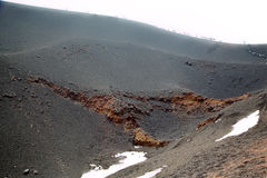 Κρατήρας Silvestri Etna του ηφαιστείου. Στοκ Εικόνες