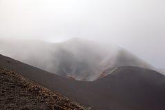 Κρατήρας Silvestri Etna του ηφαιστείου. Στοκ φωτογραφία με δικαίωμα ελεύθερης χρήσης