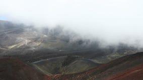 Κρατήρας Silvestri Superiori στο υποστήριγμα Etna, Σικελία, Ιταλία απόθεμα βίντεο