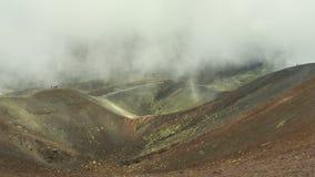 Κρατήρας Silvestri Superiori στο υποστήριγμα Etna, Σικελία, Ιταλία φιλμ μικρού μήκους