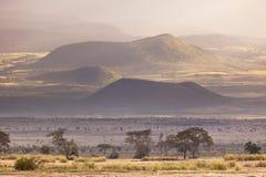Κρατήρες Kilimanjaro Στοκ Εικόνα