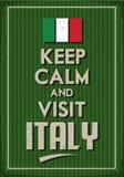 Κρατήστε ήρεμος και επίσκεψη Ιταλία Στοκ Εικόνα