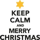 Κρατήστε ήρεμος και Χαρούμενα Χριστούγεννα ελεύθερη απεικόνιση δικαιώματος