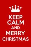 Κρατήστε ήρεμος και Χαρούμενα Χριστούγεννα Στοκ Φωτογραφία