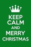 Κρατήστε ήρεμος και Χαρούμενα Χριστούγεννα Στοκ φωτογραφία με δικαίωμα ελεύθερης χρήσης