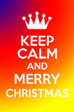 Κρατήστε ήρεμος και Χαρούμενα Χριστούγεννα Στοκ Εικόνα