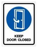 Κρατήστε κλειστό το πόρτα σημάδι συμβόλων, διανυσματική απεικόνιση, απομονώστε στην άσπρη ετικέτα υποβάθρου EPS10 διανυσματική απεικόνιση