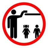 Κρατήστε μακρυά από τα παιδιά Στοκ Εικόνα
