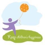 Κρατήστε την ευτυχία των παιδιών απεικόνιση αποθεμάτων