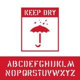 Κρατήστε το ξηρό γραμματόσημο με το αλφάβητο φορτίου για το ξύλινο σημάδι κιβωτίων Για να προστατεύσει από την υγρασία, εύθραυστη απεικόνιση αποθεμάτων