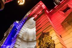 Κρατική αστυνομία στο Παρίσι στη νύχτα Στοκ εικόνα με δικαίωμα ελεύθερης χρήσης