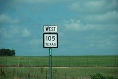 Κρατική εθνική οδός 105, Τέξας, ΗΠΑ του Τέξας στοκ φωτογραφία