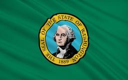 Κρατική σημαία της Ουάσιγκτον - το κράτος βορειοδυτικά ενωμένο Sta απεικόνιση αποθεμάτων