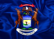Κρατική σημαία του Μίτσιγκαν ελεύθερη απεικόνιση δικαιώματος